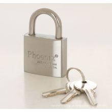 Cadeado de aço inoxidável de arco com fechaduras de almofada de chaves S
