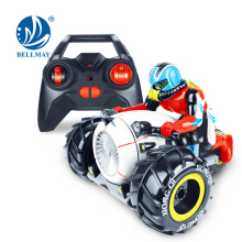 Wholesale funny 2.4G cool plastic amphibious stunt car toy