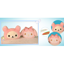 Almohada de cabeza de muñeca de niña de dibujos animados