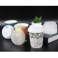 12oz HOT Biologisch abbaubare Einwegverpackung Teetasse benutzerdefinierte umweltfreundliche Kaffeetasse Pappbecher