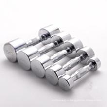 Высококачественная прочная нержавеющая сталь с хромированной гантелью