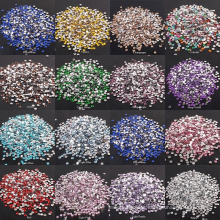 In stock 3-6mm Crystal Clear AB Non Hotfix Flatback Nail Rhinestones For Clothes Nails 3D Nail Art Decoration