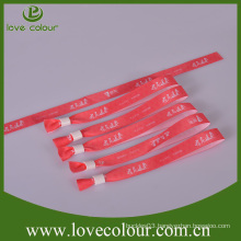 Free design wristband bracelets/wristbands with custom logo for party