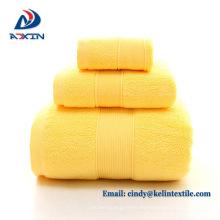 El mejor hotel de 5 estrellas de calidad utilizó el conjunto de toallas de baño blanco 100% de algodón
