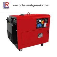 Gerador diesel de cilindro duplo para uso doméstico Ar-refrigerado