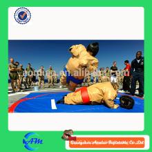 Combinaison sumo gonflable pour le commerce, combinaison sumo pour le corps, costume sumo wrestler
