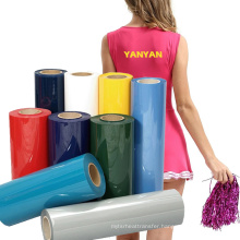 Wholesale Cheap Price Pu TPU Flex Htv Vyniy Heat Transfer Vinyl 12in Roll for Cheerleading Football clothes