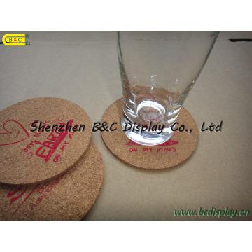 Coasters resistentes ao calor impermeáveis com cortiça (B & C-G071)