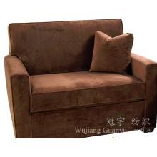 Tecido 100% poliéster de couro camurça para móveis