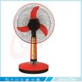 12 '' 16 '' Ventilador de mesa recargable solar de la energía solar plástica de la CC