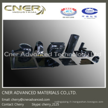 Pièces de fibre de carbone en forme 3D, 3K produits de fibre de carbone brillants / mats
