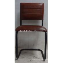 Cadeira de couro vintage retro industrial