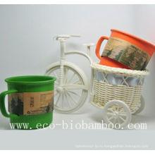 Кубок из бамбукового волокна с экологически чистым покрытием (BC-C1004)