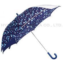 Reflektierender offener Regenschirm der Kindersicherheit des Jungen