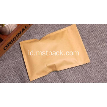 Paper Side Seal bag Zip lock flat bag