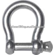 Commercial Carbon Steel 1,000kgs Galvanized Bow Shackle on Sale