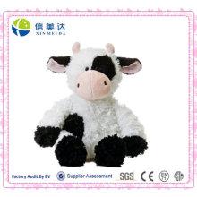 Realistic Styling Plush Sitting Cow Toys/Customized Logo