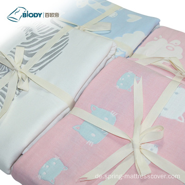 Soft Wave Point Bedruckte NewBorn Baby Multilayer-Decke