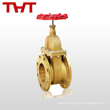 factory directly sale brass flanged gate valve 6 inch