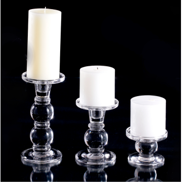bougeoir en verre cristal set3
