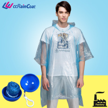 HOT SALE Disposable emergency PE rain poncho raincoat in ball