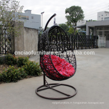 Mobilier d'extérieur abattre chaise suspendue avec support