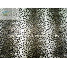 Leopardo patrón peluche tela impresa de la