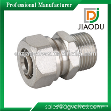 Brass Male Straight Connector Compression Fittings For PEX-AL-PEX Pipe