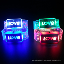 Customized Love Letter Electronic Led Light Bracelet