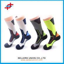 2015 Functional Dri-fit Cotton Fly Heel Cushioned Compression Crew socks/Men High Quality Sneaker Crew Trainning Socks
