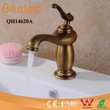 Mezclador antiguo del golpecito de agua del lavabo del lavabo del solo grifo de cobre de la manija