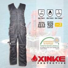 100% ropa ignífuga de algodón para el uniforme de la industria