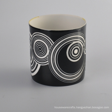 Whole Hand Made Cylinder Heat Ceramic Candle Holder