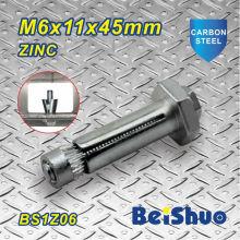 M6X11X45mm aço construção parafuso de fixação Hex para construção