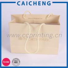 Роскошь напечатанные бумажные хозяйственные сумки подарка с веревочкой хлопка