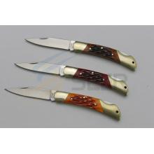 "6.5 ""cuchillo de la cerradura trasera de la manija del hueso del buey (SE-471)"
