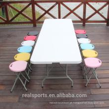 Niceway Picnic Folding Desk Para Picnic Plástico Dobrável Ajustável Utility Table