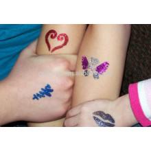 Glorious peau sécuritaire autocollant de tatouage glitter poudre papier de tatouage