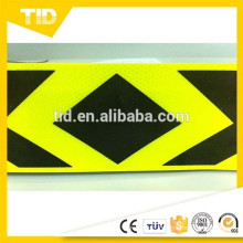 Arrow Reflective Sticker Tape, fluorescent yellow green with black printing