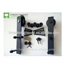 Hardware de portas de celeiro deslizante com revestimento em pó preto