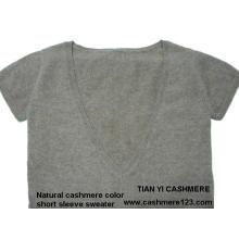 Cashmere Cor Natural Sweater BV Manga Curta