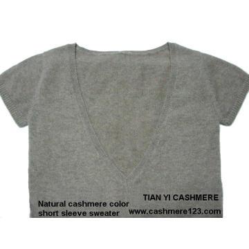 Cashmere Color Natural Sweater BV Short Sleeve