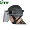 La policía y la seguridad militar a prueba de balas Visera máscara de protección facial