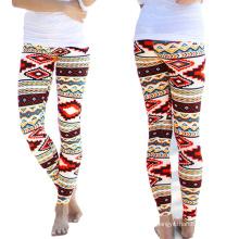 Leggings de las mujeres 2016 legging impreso flaco del algodón de la moda