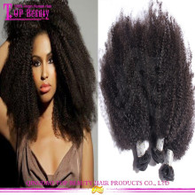 2016 Wholesale Top Quality Mongolian Afro Kinky Human Hair Extensions Full Cuticle Afro Kinky Curly Braiding Hair