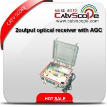 Récepteur optique de sortie 2 voies extérieur avec AGC