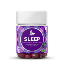 2020 Hot Sale Sleep CBD  Melatonin Hemp Gummies For Improving Sleep Help Eye Health Depression
