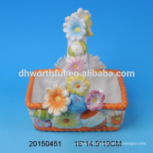 Lovely cerâmica portátil ovos de Páscoa cestas de armazenamento