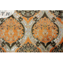 Orange Jacquard Pattern of High-Grade Fabric Sofa Design by Famous Designer