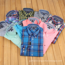 Export High Quality Leisure Cotton Checkered Shirt